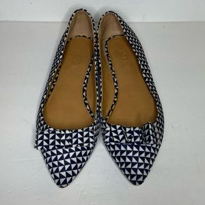 J. Crew blue and white flats